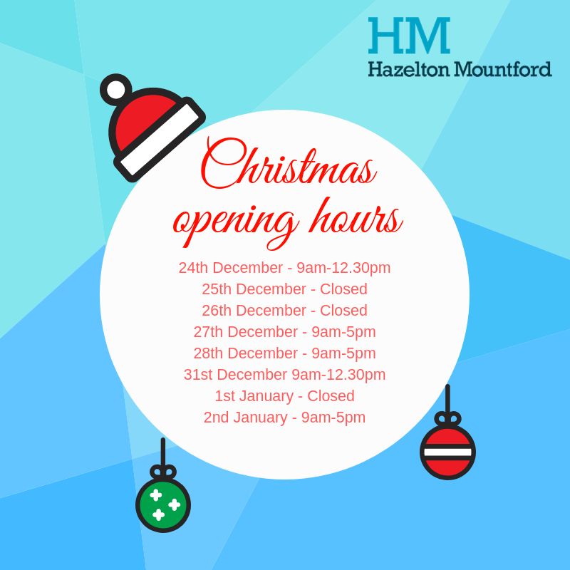 HM Opening Hours - Christmas 2018